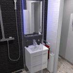 Kwadro Melby pici, panel fürdőszobában